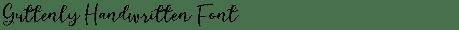 Guttenly Handwritten Font
