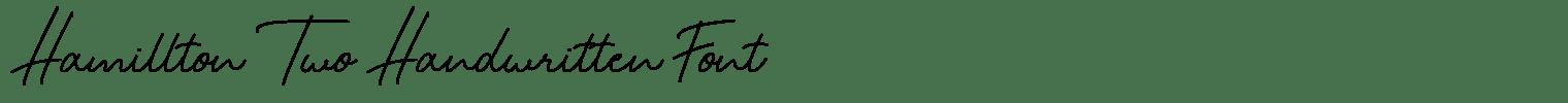 Hamillton Two Handwritten Font