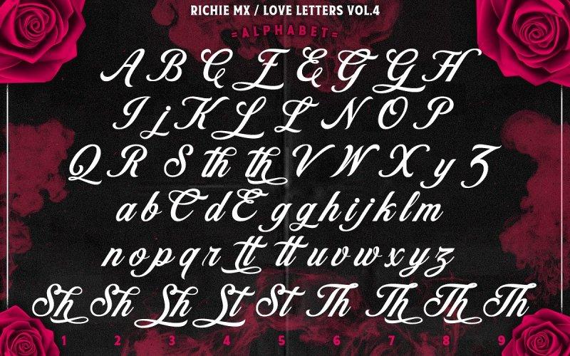 Love Letters Calligraphy Font - Fontlot.com  Love Calligraphy Font