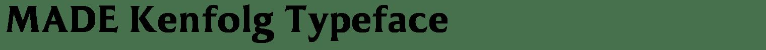 MADE Kenfolg Typeface