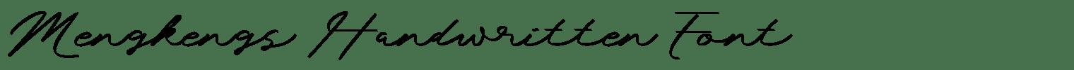 Mengkengs Handwritten Font