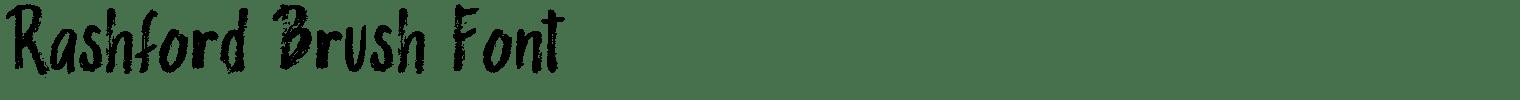 Rashford Brush Font
