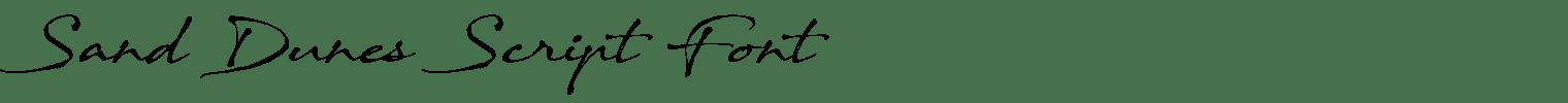 Sand Dunes Script Font