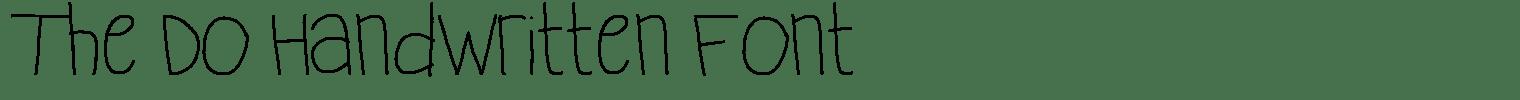 The Do Handwritten Font