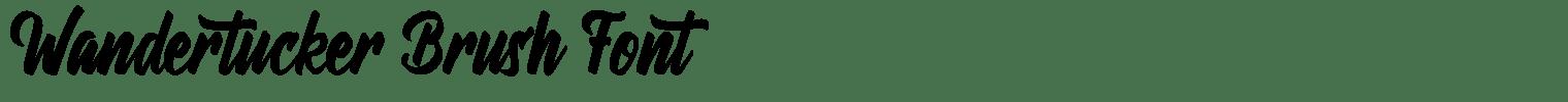 Wandertucker Brush Font