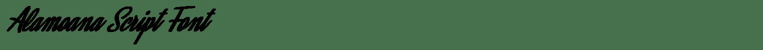 Alamoana Script Font