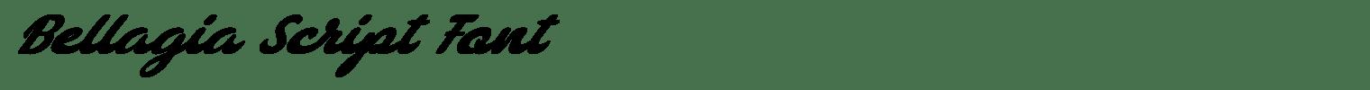 Bellagia Script Font