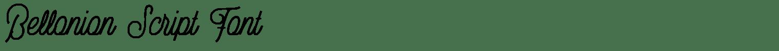 Bellonion Script Font
