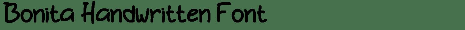 Bonita Handwritten Font