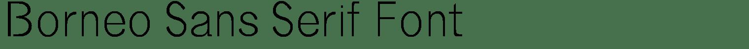 Borneo Sans Serif Font
