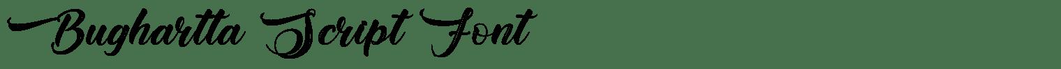 Bughartta Script Font