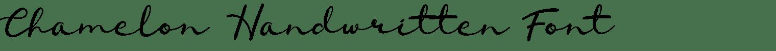 Chamelon Handwritten Font