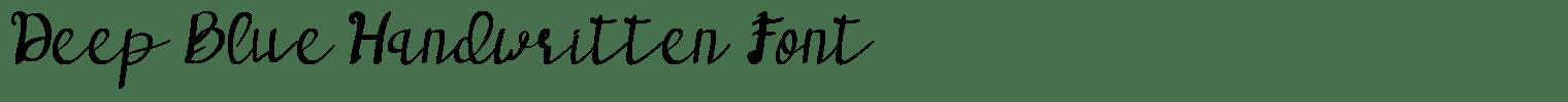Deep Blue Handwritten Font