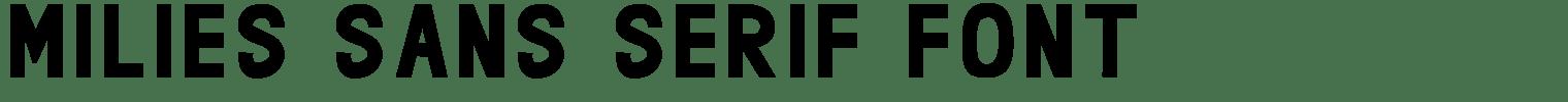 Milies Sans Serif Font