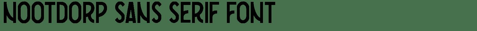 Nootdorp Sans Serif Font
