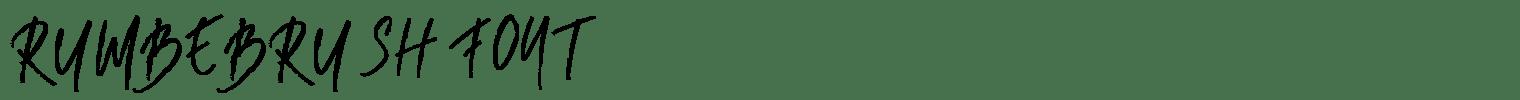 Rumbe Brush Font