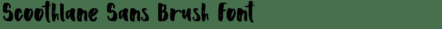 Scoothlane Sans Brush Font