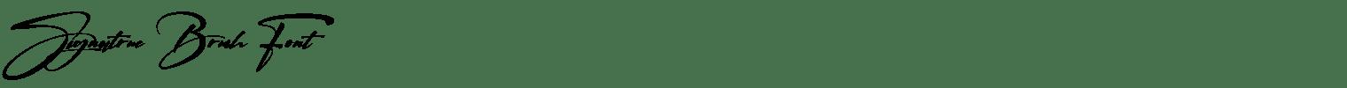 Signatrue Brush Font
