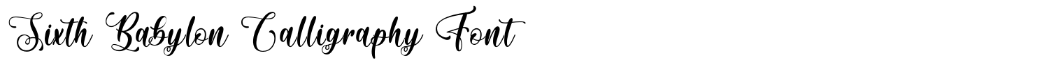 Sixth Babylon Calligraphy Font