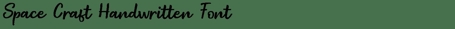 Space Craft Handwritten Font