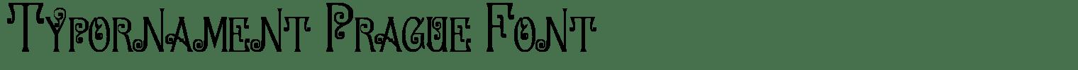 Typornament Prague Font