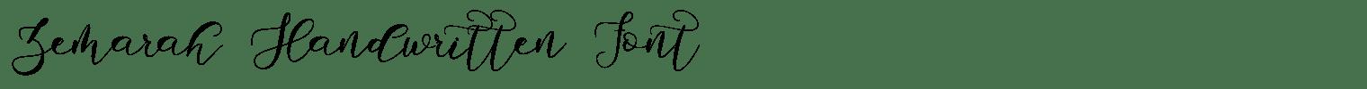Zemarah Handwritten Font