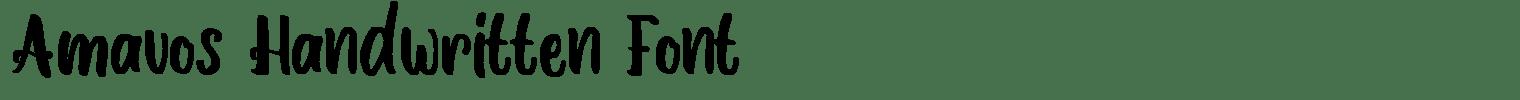 Amavos Handwritten Font
