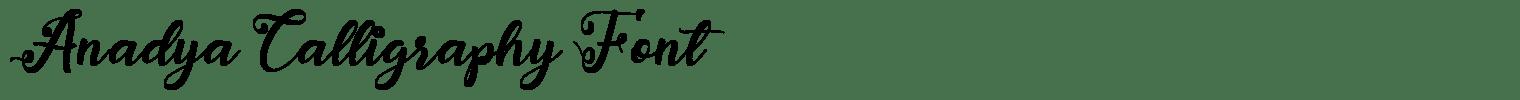 Anadya Calligraphy Font