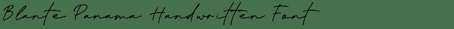 Blante Panama Handwritten Font