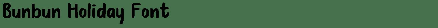 Bunbun Holiday Font