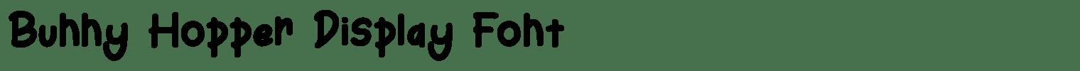 Bunny Hopper Display Font