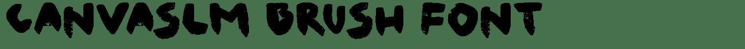 Canvaslm Brush Font