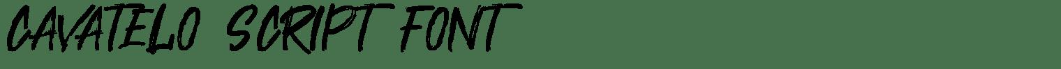 Cavatelo Script Font