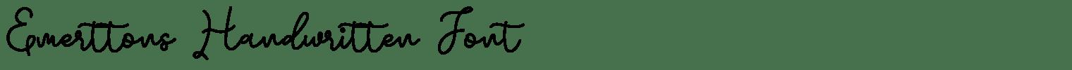 Emerttons Handwritten Font