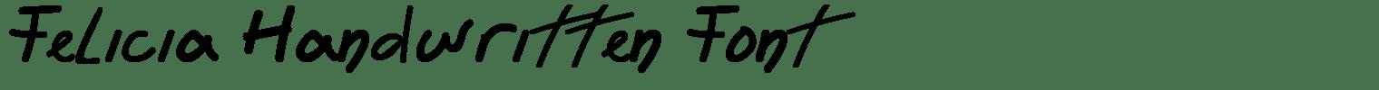 Felicia Handwritten Font