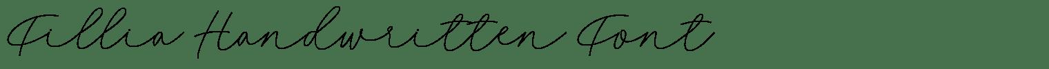 Fillia Handwritten Font