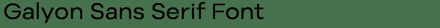 Galyon Sans Serif Font