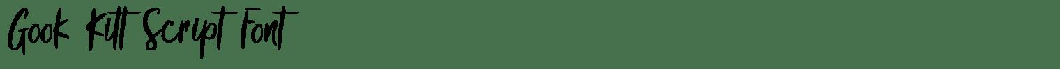 Gook Kitt Script Font