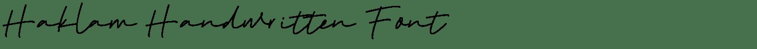 Haklam Handwritten Font