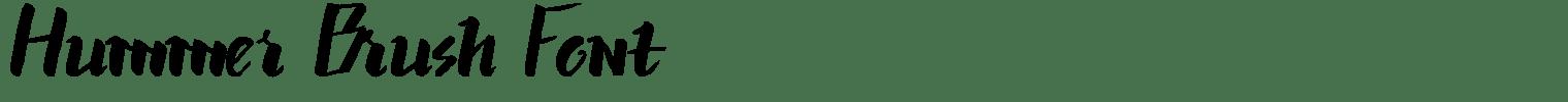 Hummer Brush Font