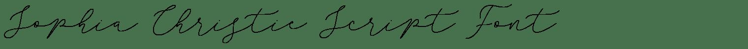 Sophia Christie Script Font