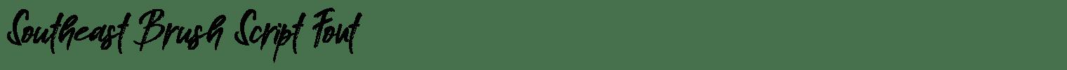 Southeast Brush Script Font