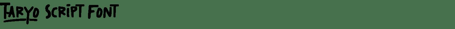 Taryo Script Font