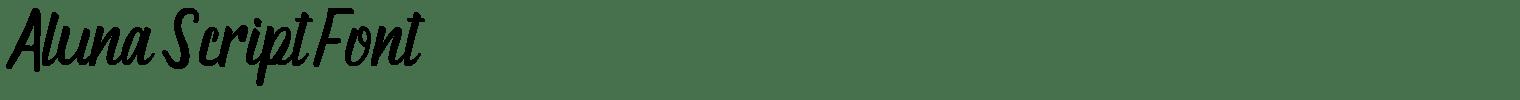 Aluna Script Font