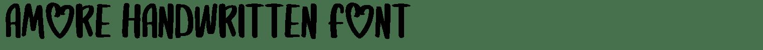 Amore Handwritten Font