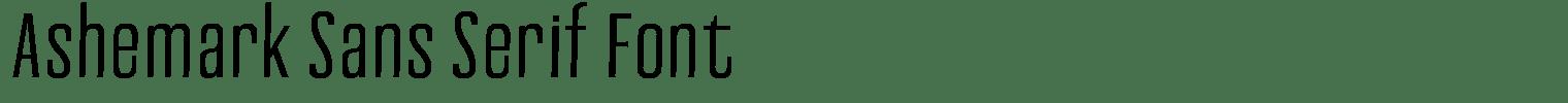 Ashemark Sans Serif Font