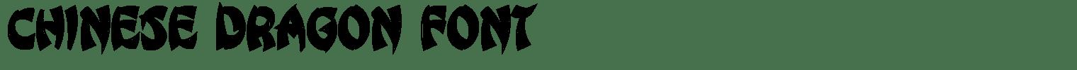 Chinese Dragon Font