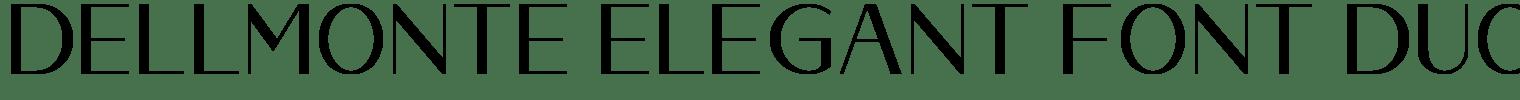 Dellmonte Elegant Font Duo