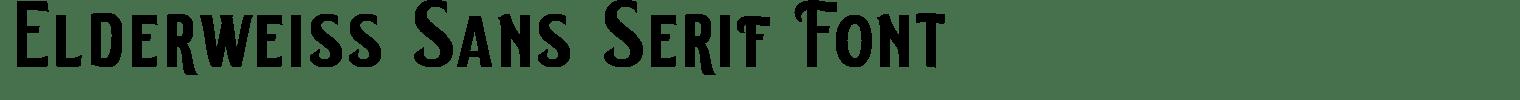 Elderweiss Sans Serif Font