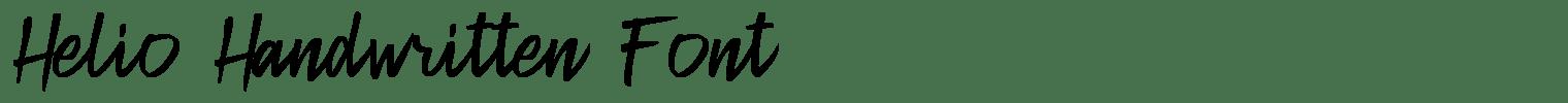 Helio Handwritten Font